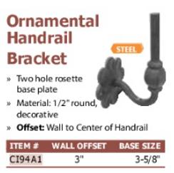 ornamental handrail bracket