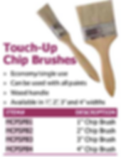 touch-up chip brushes