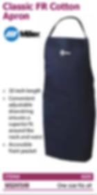classic fr cotton apron
