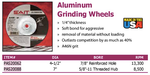 aluminum grinding wheels