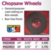 Chopsaw wheels
