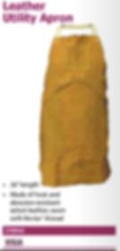 leather utility apron