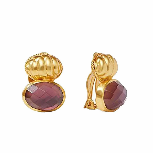 Julie Vos Olympia Clip Earrings