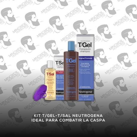 Kit T/Gel & T/Sal Anti-Caspa Neutrogena Incluye: Masajeador Capilar [Gratis]