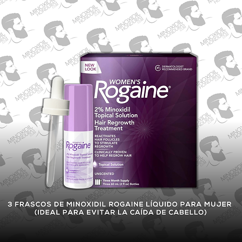 Minoxidil Rogaine para Mujer en Tópico 2%