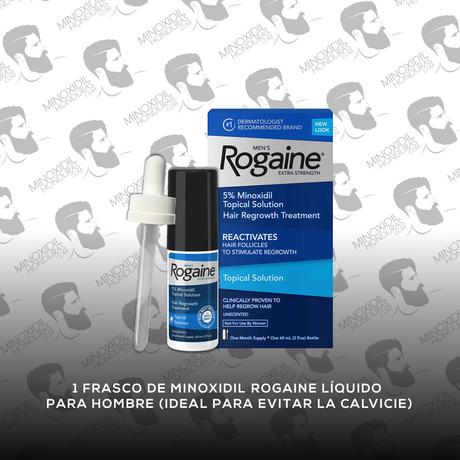 1 Frasco Minoxidil Rogaine Topico 5% [Hombre]