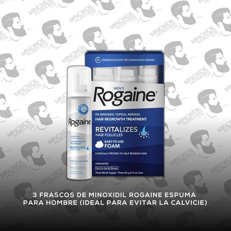 3 Frascos Minoxidil Rogaine Espuma 5% [Hombre]