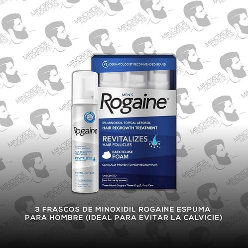 3 frascos Minoxidil Rogaine para Hombre en Espuma 5%