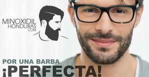 Aplicando minoxidil para obtener la barba perfecta