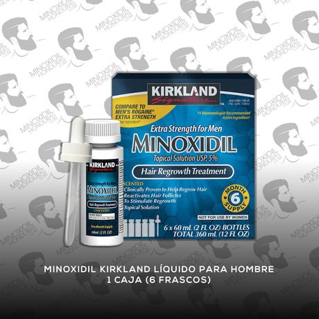 6 Frascos Minoxidil Kirkland 5% [Hombre]