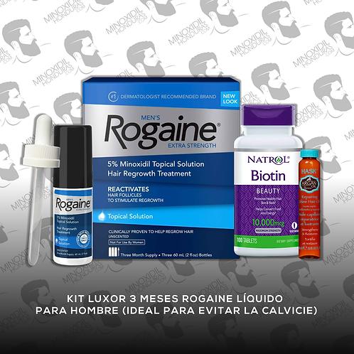 Kit Luxor 3 meses Rogaine líquido Caballero