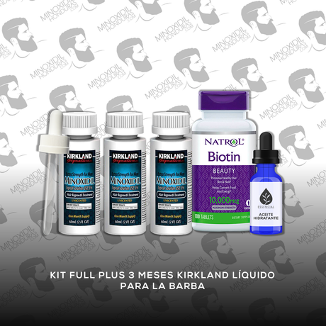 Kit Full Plus 3 Meses Minoxidil Kirkland [Hombre]