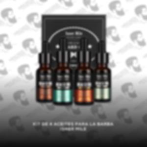 Kit de 4 Aceites para la Barba Isner Mile
