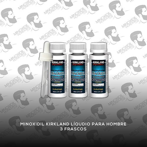 3 Frascos de Minoxidil Kirkland para Hombre en Tópico 5%