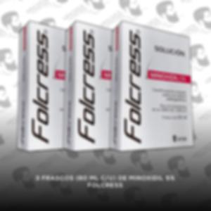3 Frascos Minoxidil Folcress 5%