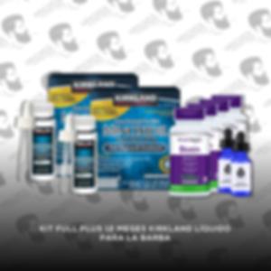 Kit Full Plus 12 Meses Minoxidil Kirkland [Hombre]