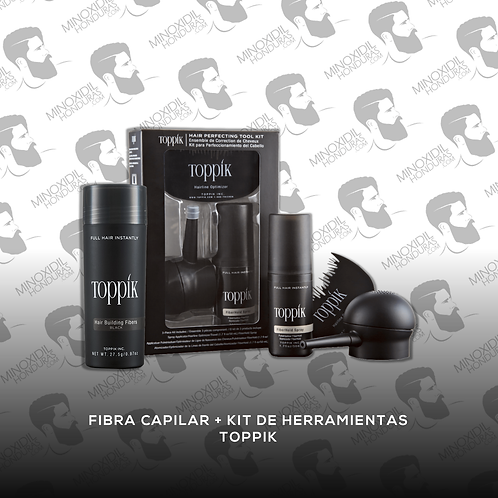 Fibra capilar + Kit de Herramientas Toppik