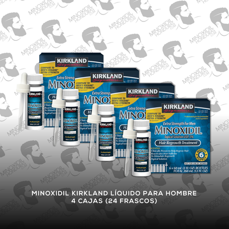 24 Frascos Minoxidil Kirkland 5% [Hombre]