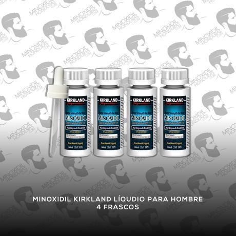 4 Frascos Minoxidil Kirkland 5% [Hombre]