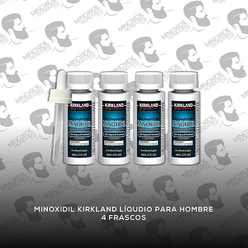 4 frascos de Minoxidil Kirkland para Hombre en Tópico