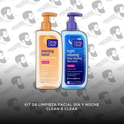 Kit de Limpieza Facial Día y Noche - Clean & Clear