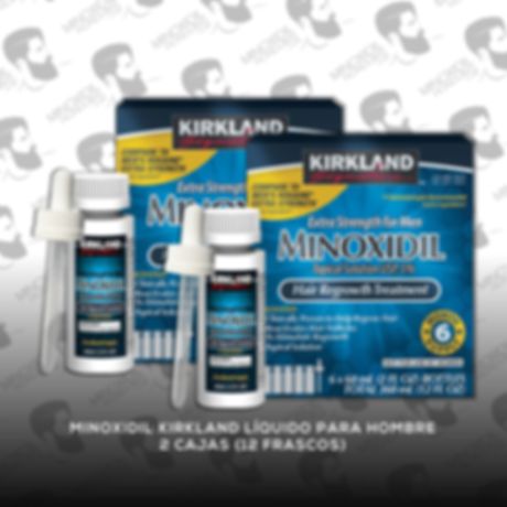 12 Frascos Minoxidil Kirkland 5% [Hombre]