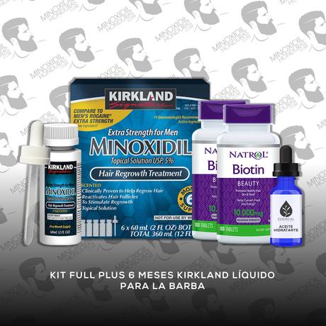Kit Full Plus 6 Meses Minoxidil Kirkland [Hombre]