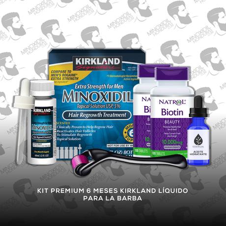 Kit Premium 6 Meses Minoxidil Kirkland [Hombre]