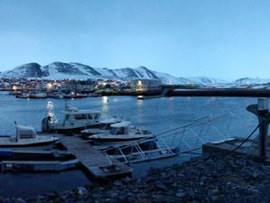 Ankunft in Mehamn (Norwegen)