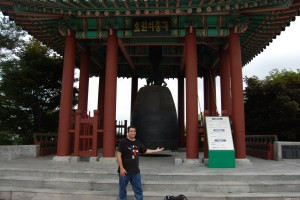Ross With Bell at Hwaseong Fortress in Suwon