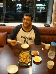 Ross at Chinese Restaurant in Insadong