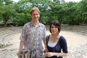 Jon and Danielle at Korean Folk Village