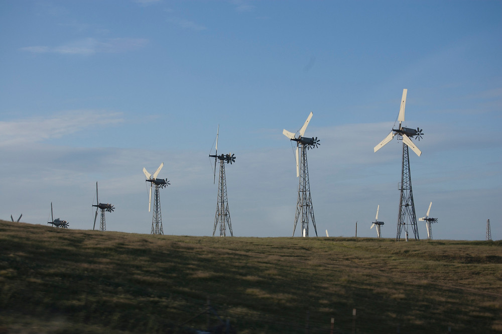 Trip to Skywalker Ranch, wind turbines