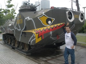 Ross stands by Tank at War Museum in Korea
