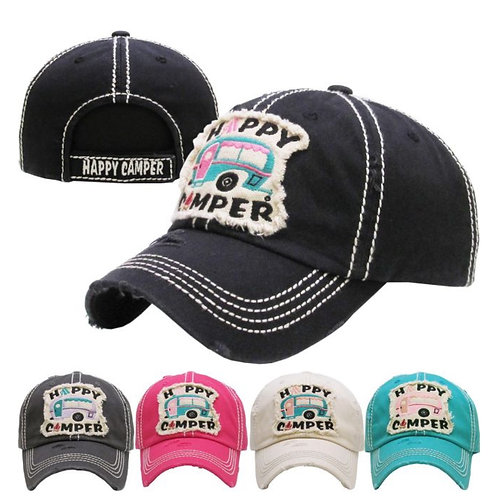 Happy Camper Vintage Hat