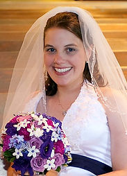 Alexandra on her wedding day