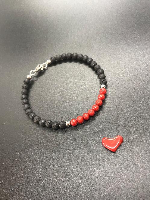 Perles de corail rouge