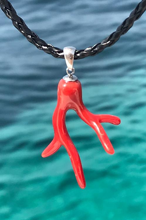 Passion Corail Rouge Véritable Pendentif