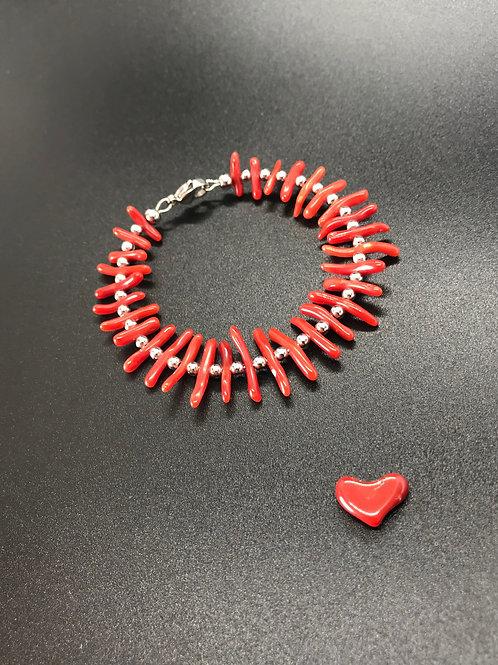 Bracelet Corail Rouge Véritable