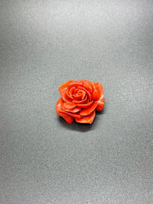 Rose en Corail Rouge