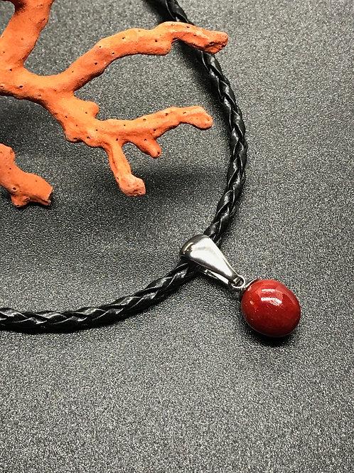 Boule Corail Rouge authentique