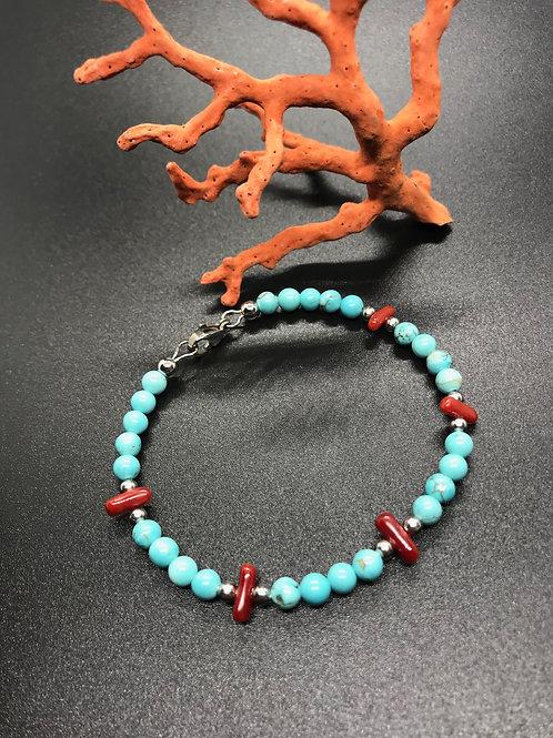 Bijou Corail Rouge et Turquoise