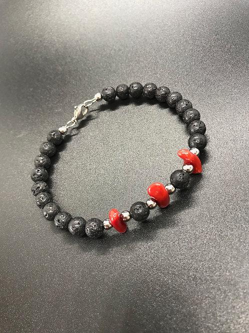 Corail Rouge et pierre de lave