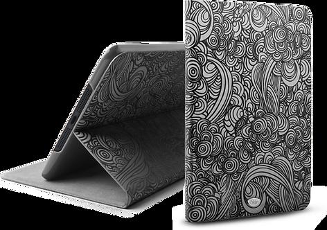 Vibes Swirl Folio  for iPad mini, iPad mini 2, iPad mini 3- Black/Silver
