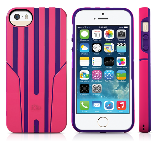 iSkin Exo for iPhone 5/5S/SE - Pink/Purple