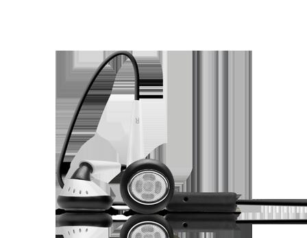 EarTones Earphones (Black+White)