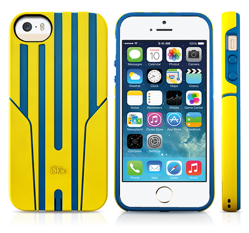 iSkin Exo for iPhone 5/5S/SE - Yellow/Blue