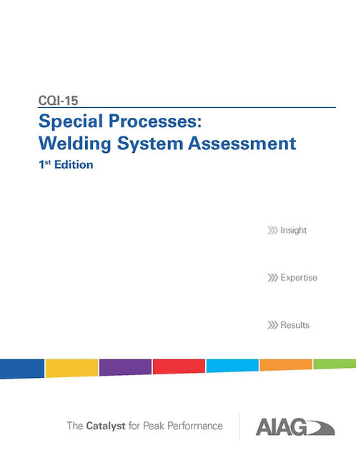 CQI-15 Special Process: Welding System Assessment