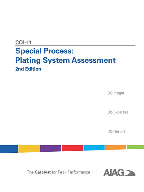 CQI-11 Special Process: Plating System Assessment