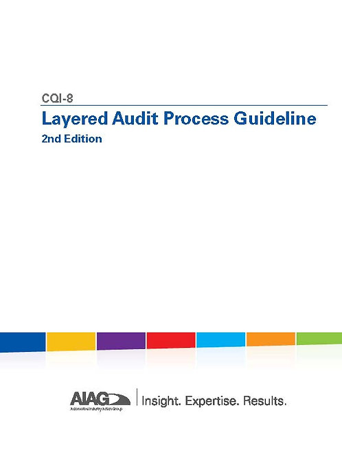 CQI-8 Layered Audit Process Guideline 2nd Edition